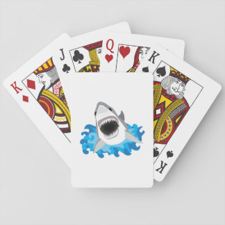 Great White Shark Attack Playing Cards