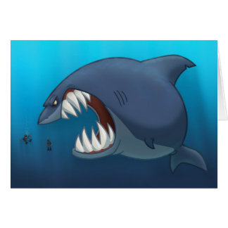 Great White Shark Card (Blank Inside)