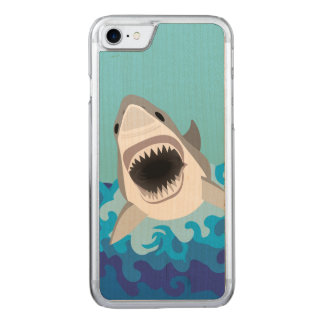 Great White Shark Funny Cartoon Carved iPhone 8/7 Case