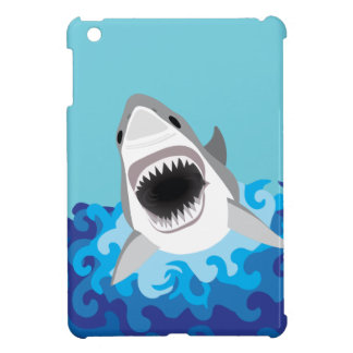 Great White Shark Funny Cartoon iPad Mini Cover