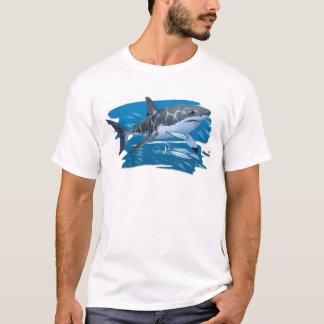 Great White Shark in Habitat T-shirt