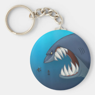 Great White Shark Keychain