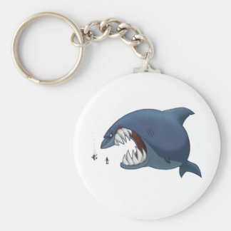 Great White Shark Keychain