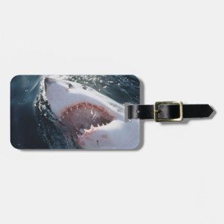 Great White Shark on sea Bag Tag