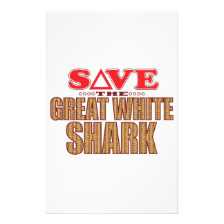 Great White Shark Save Stationery