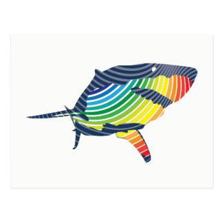 Great White Shark Swoosh Postcard