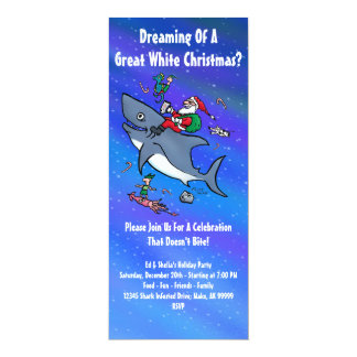 Great White Xmas Party Invitations
