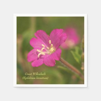 Great Willowherb Flower Paper Napkins