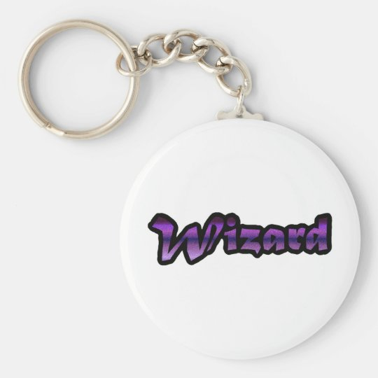 great wizard basic round button key ring