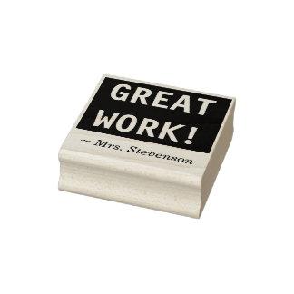 """GREAT WORK!"" + Teacher Marking/Grading Stamp"