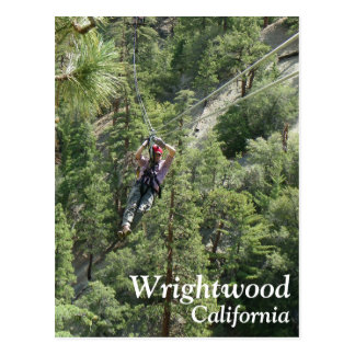 Great Wrightwood Zip Line Postcard! Postcard