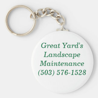 Great Yard's Landscape Basic Round Button Key Ring