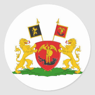 Greater Brussels, Belgium Classic Round Sticker