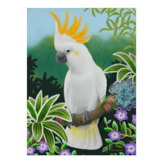 Greater Citron Cockatoo Parrot Print