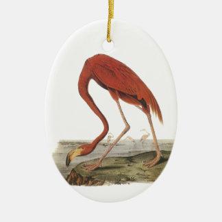 Greater Flamingo, John Audubon Ceramic Oval Decoration