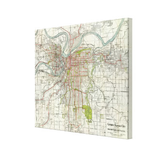 Greater Kansas City Stretched Canvas Prints