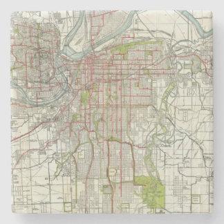 Greater Kansas City Stone Coaster