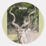 Greater Kudu Round Sticker