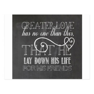 Greater Love Scripture Gift Postcard
