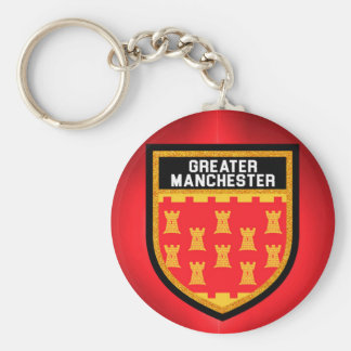 Greater Manchester Flag Key Ring