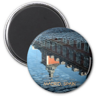Greater place of Madrid after rain Magnet