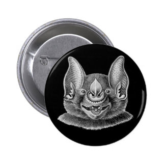 Greater Spear-nosed Bat 6 Cm Round Badge