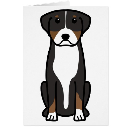 Greater Swiss Mountain Dog Cartoon Card