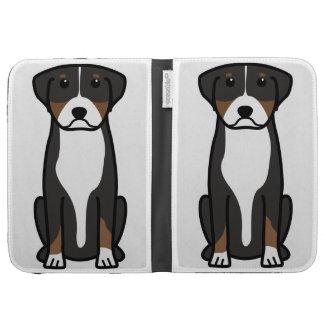 Greater Swiss Mountain Dog Cartoon Kindle Keyboard Cases
