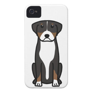 Greater Swiss Mountain Dog Cartoon iPhone 4 Cases