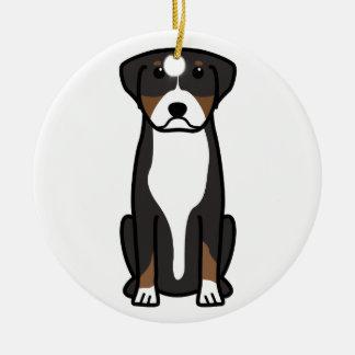 Greater Swiss Mountain Dog Cartoon Christmas Ornament
