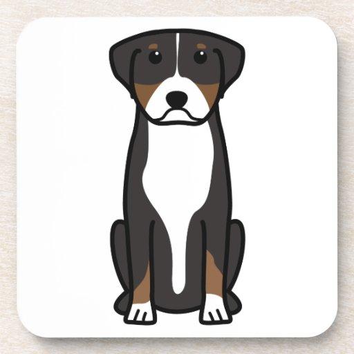 Greater Swiss Mountain Dog Cartoon Coaster