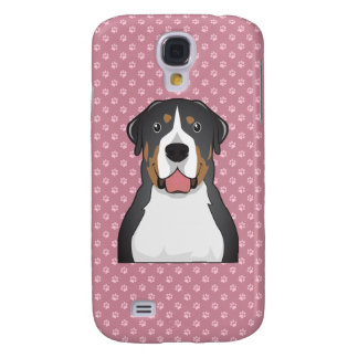 Greater Swiss Mountain Dog Cartoon Galaxy S4 Case
