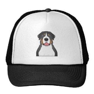 Greater Swiss Mountain Dog Cartoon Hats