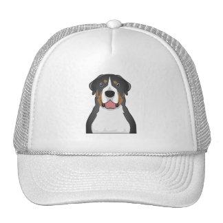 Greater Swiss Mountain Dog Cartoon Mesh Hats