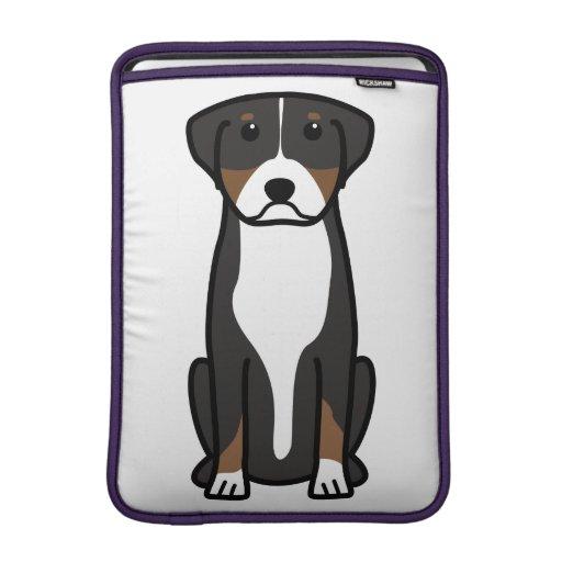 Greater Swiss Mountain Dog Cartoon MacBook Air Sleeves