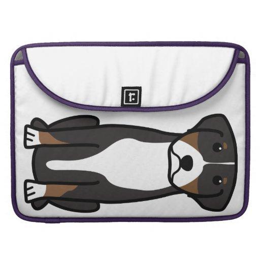 Greater Swiss Mountain Dog Cartoon MacBook Pro Sleeves