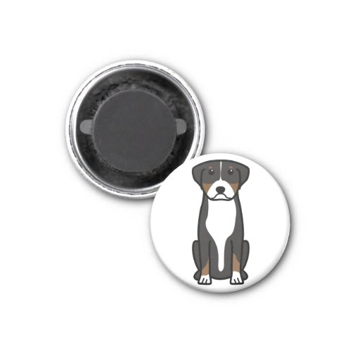 Greater Swiss Mountain Dog Cartoon Refrigerator Magnets