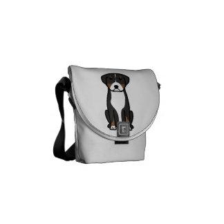 Greater Swiss Mountain Dog Cartoon Messenger Bags