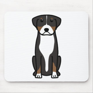 Greater Swiss Mountain Dog Cartoon Mouse Mat