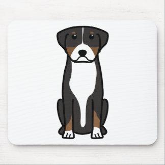 Greater Swiss Mountain Dog Cartoon Mouse Pad