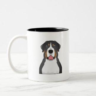 Greater Swiss Mountain Dog Cartoon Mugs