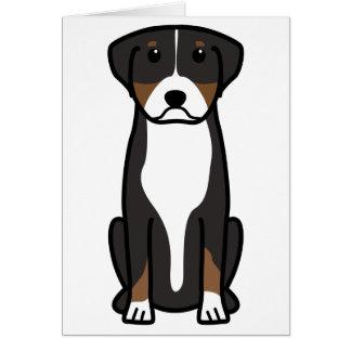 Greater Swiss Mountain Dog Cartoon Note Card