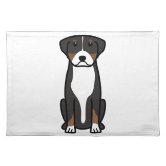 Greater Swiss Mountain Dog Cartoon Placemats