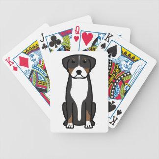Greater Swiss Mountain Dog Cartoon Card Deck