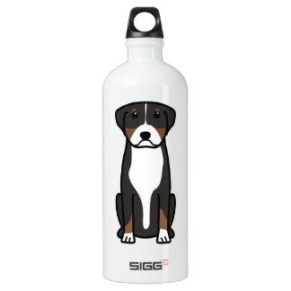 Greater Swiss Mountain Dog Cartoon SIGG Traveller 1.0L Water Bottle