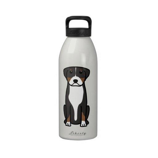 Greater Swiss Mountain Dog Cartoon Drinking Bottle