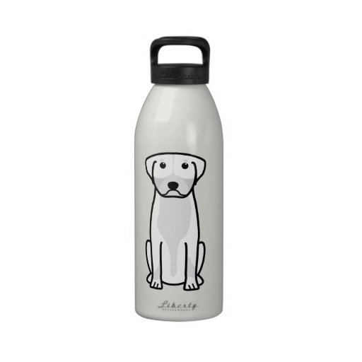 Greater Swiss Mountain Dog Cartoon Water Bottle