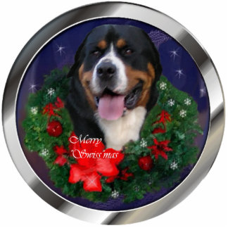 Greater Swiss Mountain Dog Christmas Ornament Photo Sculpture Decoration