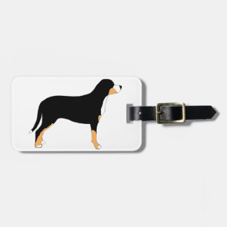 greater swiss mountain dog color silhouette luggage tag