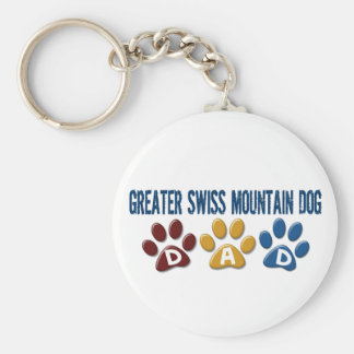 GREATER SWISS MOUNTAIN DOG Dad Paw Print 1 Key Chain